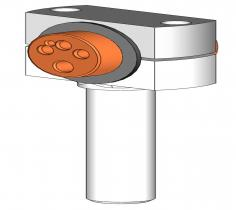 Torch bracket for machines with mandrel